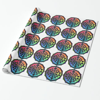 Rainbow Sri Yantra for Prosperity & Love Wrapping Paper