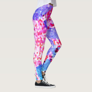 Rainbow Stain Glass Mermaid Leggings Yoga pants