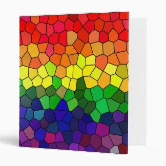 Rainbow Stained Glass folder Vinyl Binders