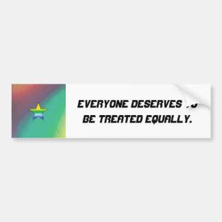Rainbow Star Bumper Sticker