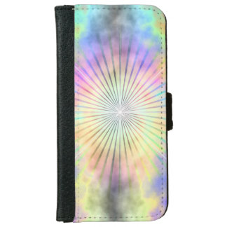 Rainbow Star Burst Horizon iPhone 6 Wallet Case