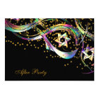 Rainbow Star Confetti Flourish After Party Card