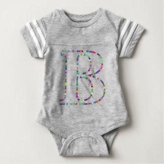 Rainbow Star Letter B Baby Bodysuit