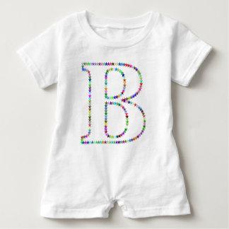 Rainbow Star Letter B Baby Romper