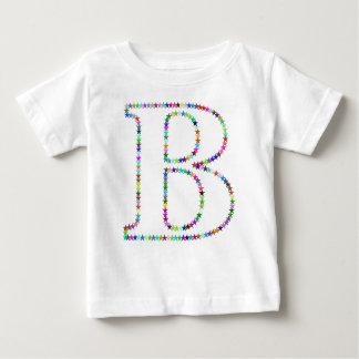 Rainbow Star Letter B Baby T-Shirt