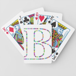 Rainbow Star Letter B Bicycle Playing Cards