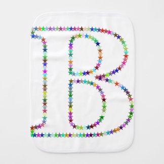 Rainbow Star Letter B Burp Cloth