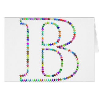 Rainbow Star Letter B Card