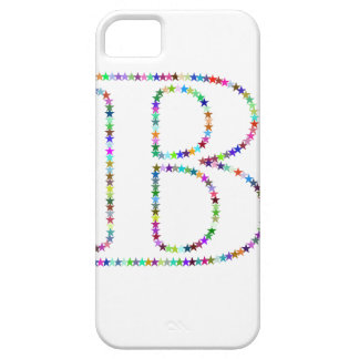 Rainbow Star Letter B Case For The iPhone 5