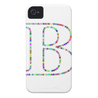 Rainbow Star Letter B iPhone 4 Case