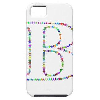 Rainbow Star Letter B iPhone 5 Case