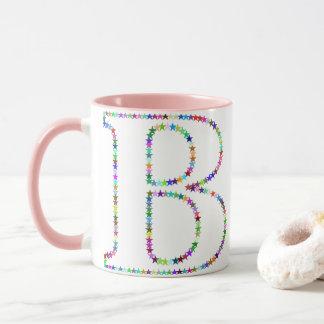 Rainbow Star Letter B Mug