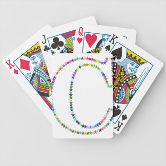 Rainbow Star Letter C Bicycle Playing Cards