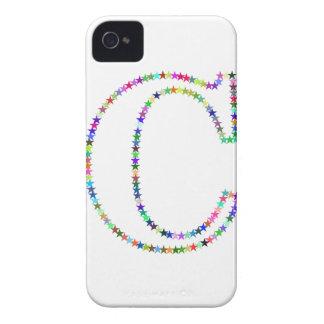 Rainbow Star Letter C Case-Mate iPhone 4 Case