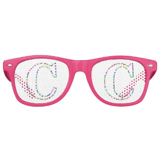 Rainbow Star Letter C Retro Sunglasses