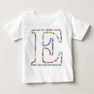 Rainbow Star Letter E Baby T-Shirt