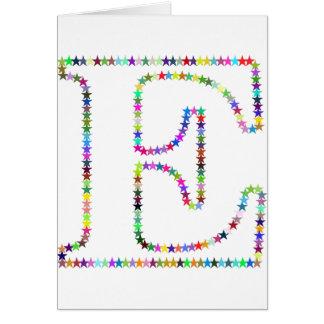Rainbow Star Letter E Card