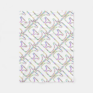 Rainbow Star Letter E Fleece Blanket