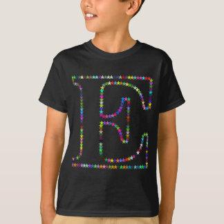 Rainbow Star Letter E T-Shirt