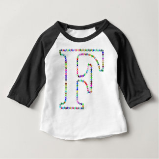 Rainbow Star Letter F Baby T-Shirt