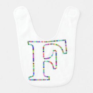 Rainbow Star Letter F Bib