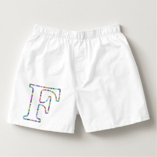 Rainbow Star Letter F Boxers