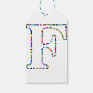 Rainbow Star Letter F Gift Tags