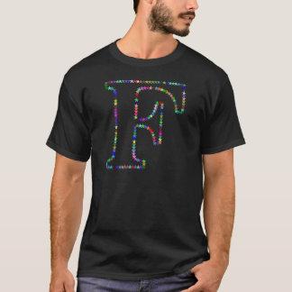 Rainbow Star Letter F T-Shirt