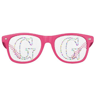 Rainbow Star Letter G Party Shades