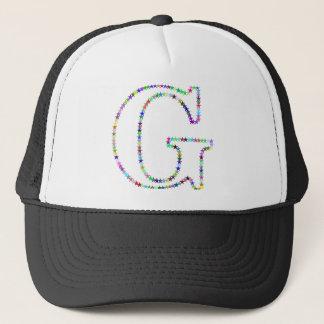 Rainbow Star Letter G Trucker Hat