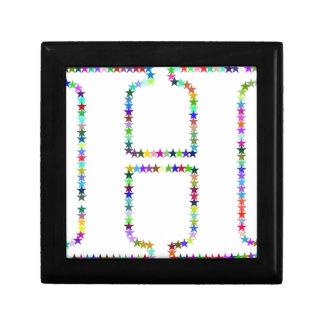 Rainbow Star Letter H Keepsake Box