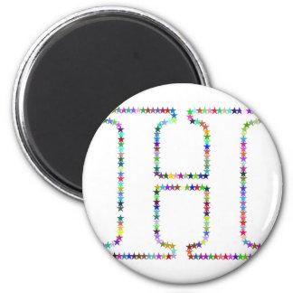 Rainbow Star Letter H Magnet