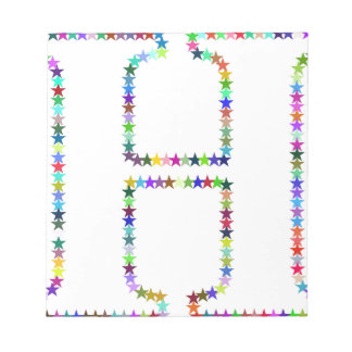 Rainbow Star Letter H Notepad