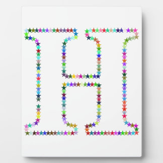Rainbow Star Letter H Plaque
