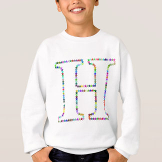 Rainbow Star Letter H Sweatshirt