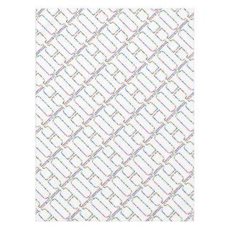 Rainbow Star Letter H Tablecloth