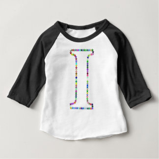 Rainbow Star Letter I Baby T-Shirt