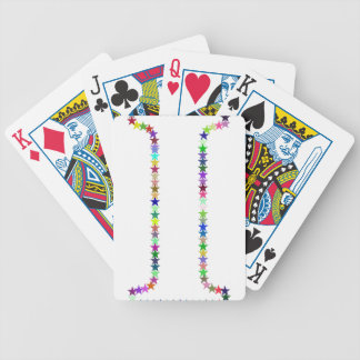 Rainbow Star Letter I Bicycle Playing Cards