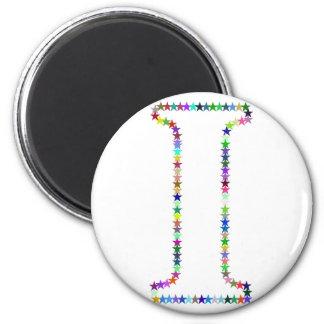 Rainbow Star Letter I Magnet