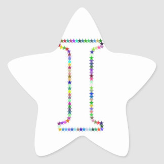Rainbow Star Letter I Star Sticker