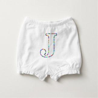Rainbow Star Letter J Diaper Cover