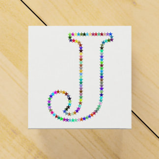 Rainbow Star Letter J Favor Box