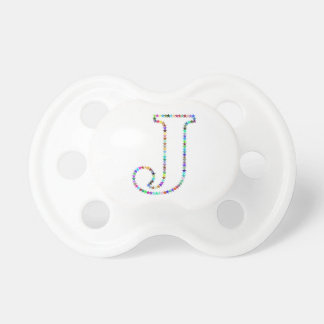 Rainbow Star Letter J Pacifiers