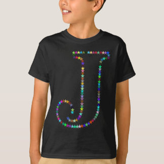 Rainbow Star Letter J T-Shirt