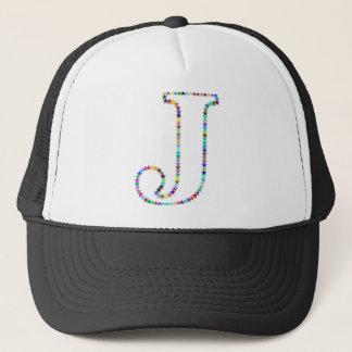 Rainbow Star Letter J Trucker Hat