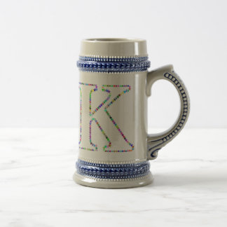 Rainbow Star Letter K Beer Stein