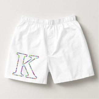 Rainbow Star Letter K Boxers