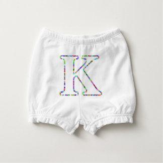 Rainbow Star Letter K Diaper Cover