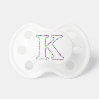Rainbow Star Letter K Pacifier