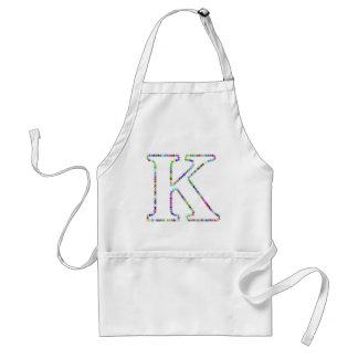 Rainbow Star Letter K Standard Apron